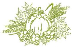 My harvest embroidery design