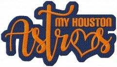 My Houston Astros embroidery design