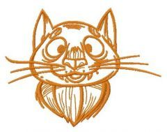 My old cat embroidery design