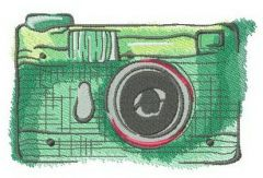 My old green camera embroidery design