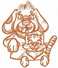 My pets embroidery design