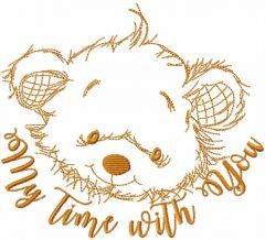 My Time With You embroidery design