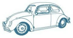 My Volkswagen beetle embroidery design