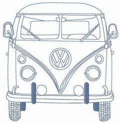 My Volkswagen Van embroidery design