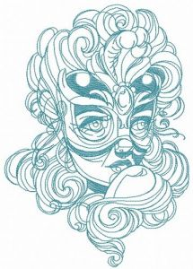 Mysterious stranger 4 embroidery design