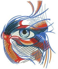 Mystical eye embroidery design