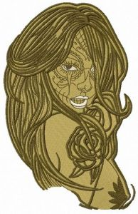 Naked fancy girl 2 embroidery design