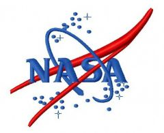 NASA logo 2 embroidery design