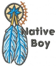 Native boy embroidery design