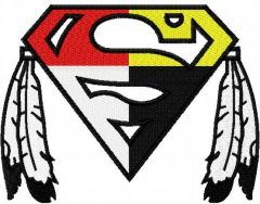 Native Superman logo embroidery design
