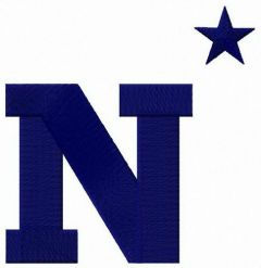 Navy Midshipmen logo embroidery design