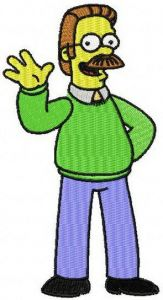 "Nedward ""Ned"" Flanders, Jr. embroidery design"