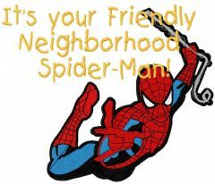 Neighborhood Spider-Man embroidery design
