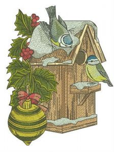 Nest box for tits embroidery design