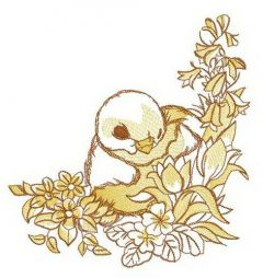 Nestling embroidery design