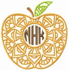 NHK apple embroidery design