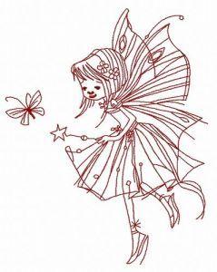Night fairy embroidery design 2