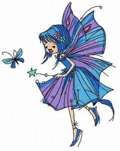 Night fairy embroidery design