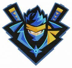 Ninja Fortnite embroidery design