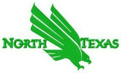 North Texas Mean Green logo embroidery design