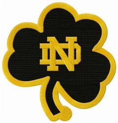 Notre Dame Fighting Irish clover logo embroidery design