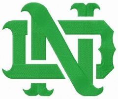 Notre Dame Fighting Irish logo embroidery design