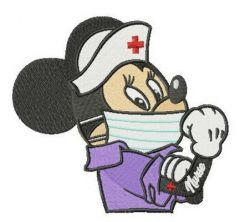 Nurse Minnie embroidery design