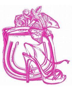 NY fashion lady 3 embroidery design