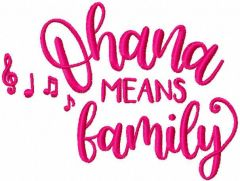 Ohana means family embroidery design