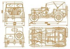 Old car plan embroidery design
