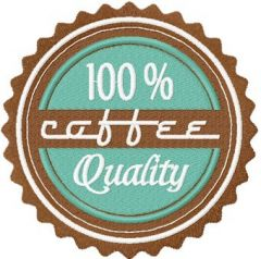 Coffee Labels 50s style embroidery design