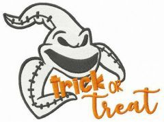 Oogie Boogie trick or treat embroidery design