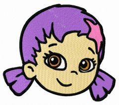 Oona face embroidery design