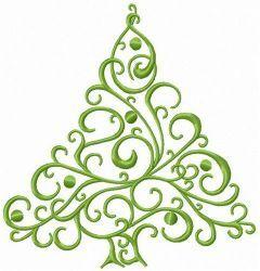Openwork fir tree embroidery design