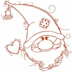 Orange Christmas dwarf embroidery design
