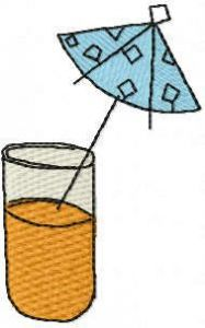 Orange coctail free embroidery design