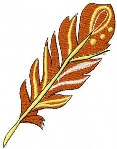 Orange feather 3 embroidery design
