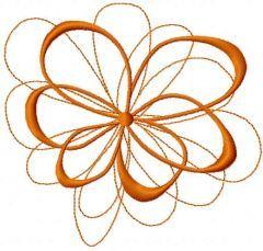Swirl decoration 5 embroidery design