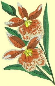 Orchids free embroidery embroidery design