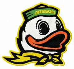 Oregon Duck embroidery design