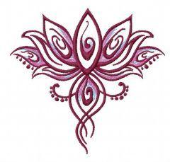 Oriental flower 5 embroidery design