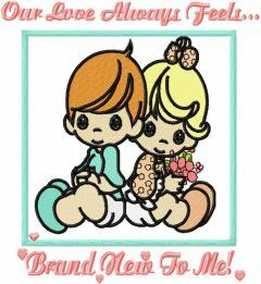 Our Love Always Feels embroidery design