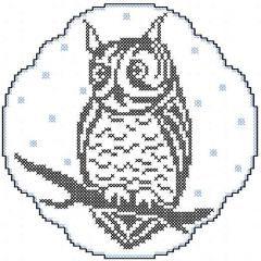 Owl cross stitch embroidery design