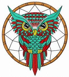 Owl dreamcatcher 2 embroidery design