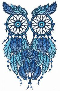 Owl dreamcatcher 4 embroidery design