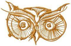 Owl eyes 5 embroidery design