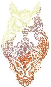 Owl blend embroidery design