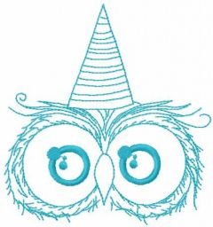 Owl holiday embroidery design