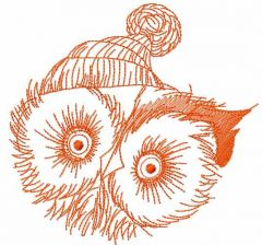 Owl like winter time embroidery design