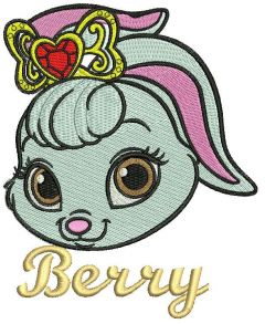Palace Pets Berry embroidery design